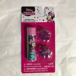 Minnie Mouse Gift Set w/ lip balm and 2 hair clips